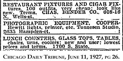 Tonnesen Studio Equipment Sale Advertisement